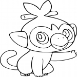 Coloriage Ouistempo Pokemon