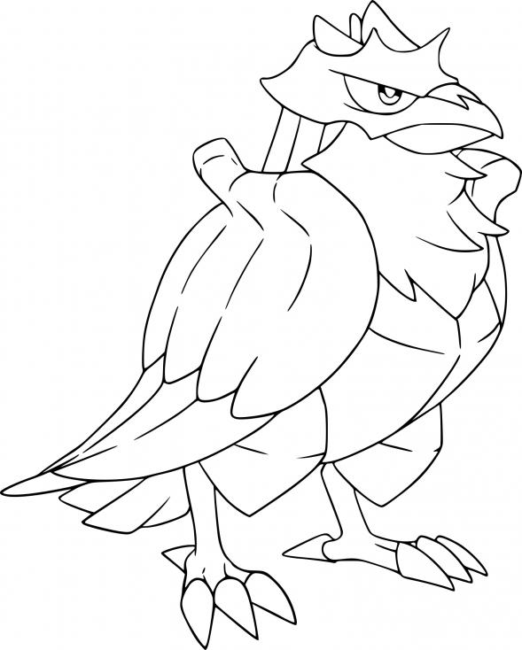 Coloriage Corvaillus Pokemon