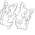 Coloriage Morpeko Pokemon