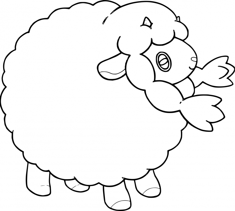 Coloriage Moumouton Pokemon
