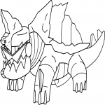 Coloriage Torgamord Pokemon