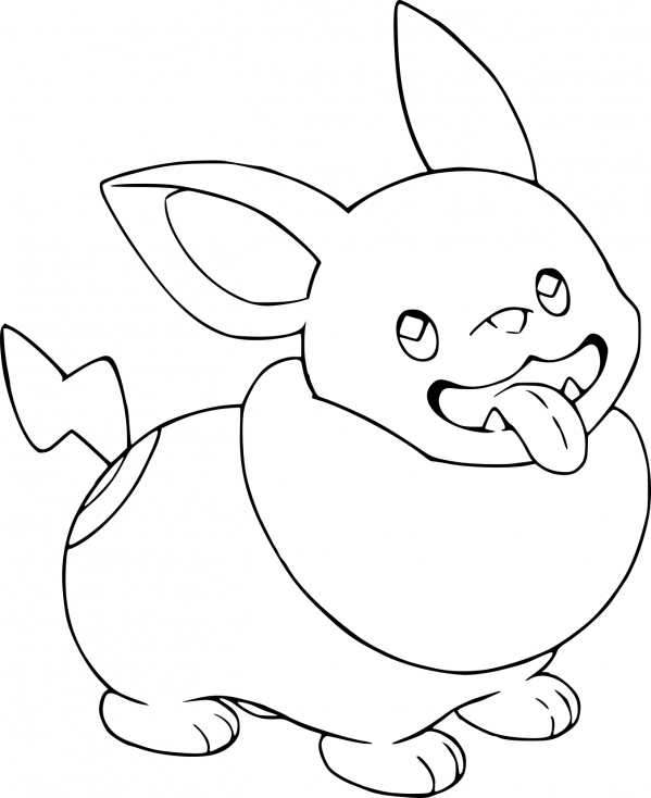 Coloriage Voltoutou Pokemon