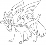 Coloriage Zacian Pokemon