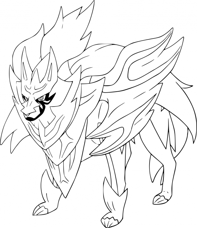 Coloriage Zamazenta Pokemon