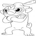Coloriage Badabouin Pokemon