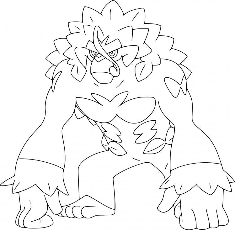 Coloriage Gorythmic Pokemon
