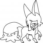 Coloriage Goupilou Pokemon